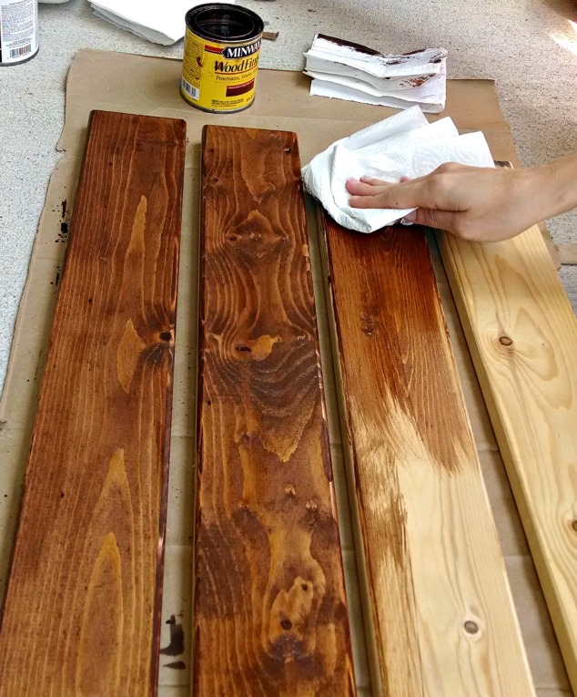 Wipe Stain on Boards